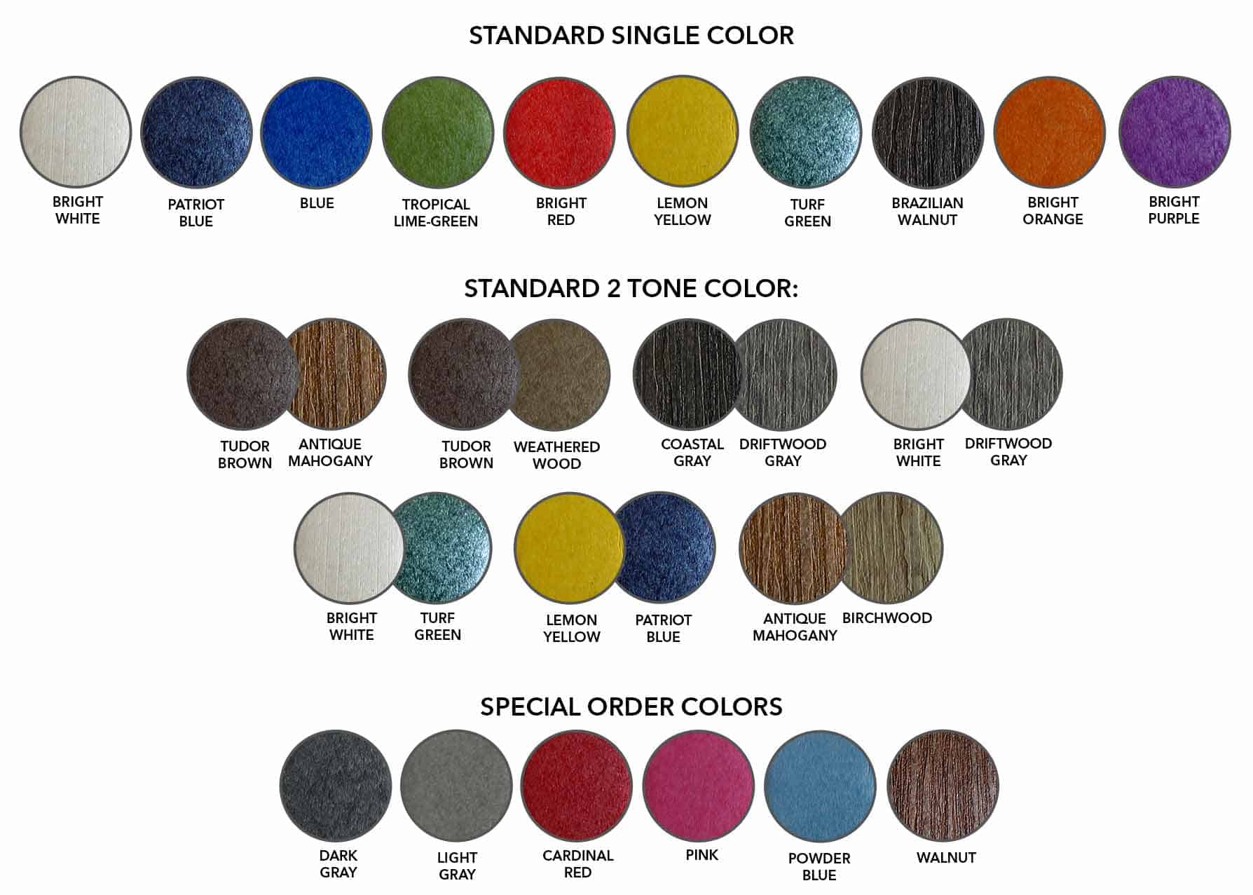 Outdoor Poly Furniture colors