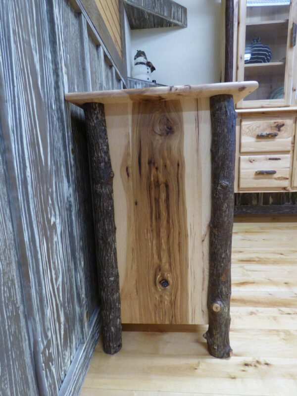 Hickory TV Stand side view