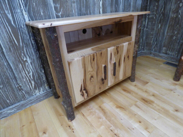 Hickory TV Stand 3/4 view