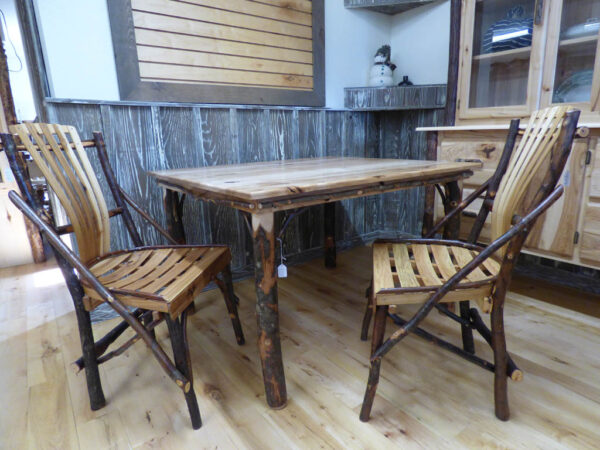Hickory Dining Table with Chairs