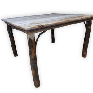 Hickory Dining Table 3/4 View