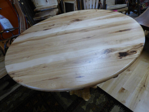 Hickory Round Kitchen Table Top