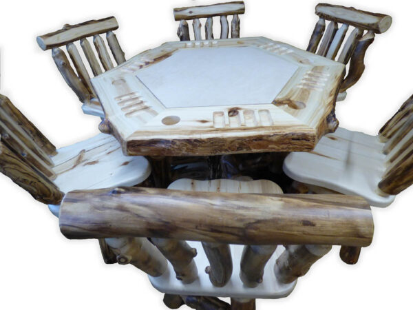 Aspen Poker Table - With white background