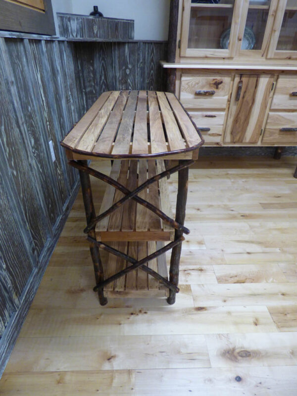 Amish table side view