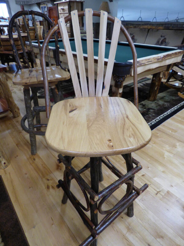 Hickory 30 Inch Stool Basic Back in showroom