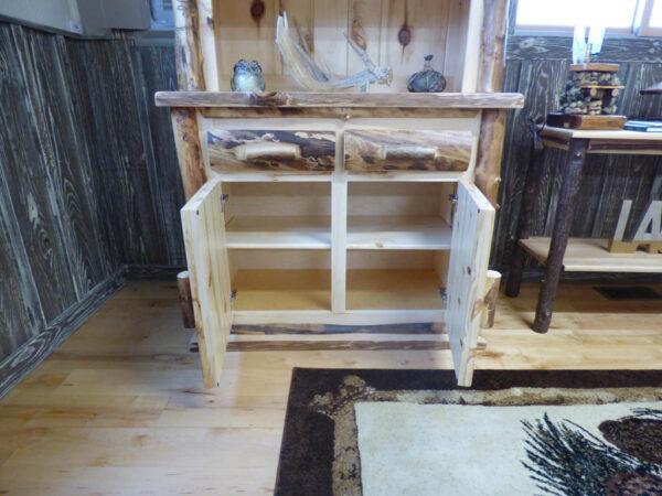 Aspen Hutch - cabinets open