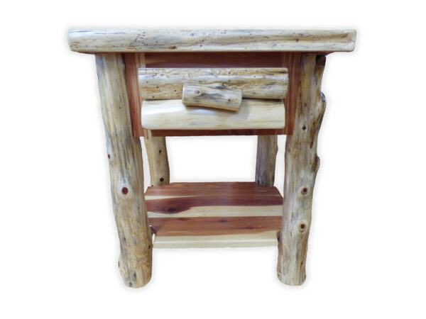 Cedar 1 Drawer Night Stand - Front View