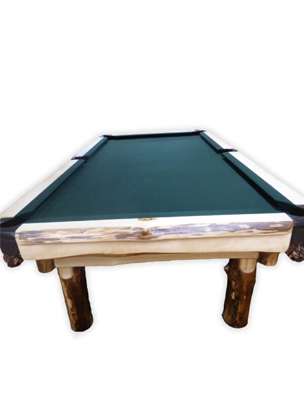 Aspen Pool Table on white background