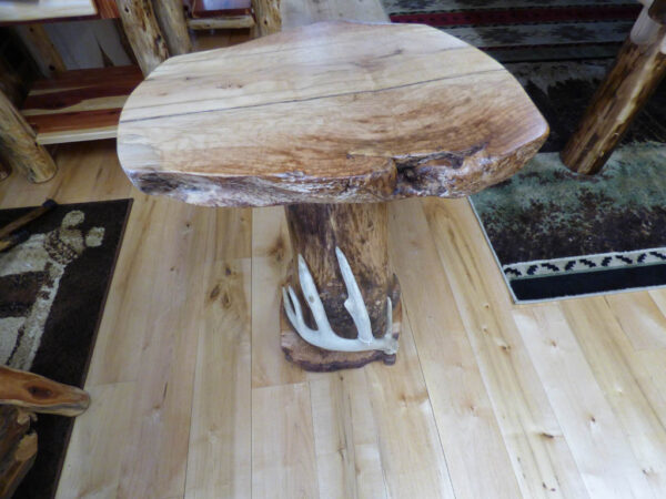 Maple Side Table with Antler