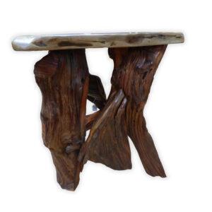 Black Walnut Sofa Table - side view