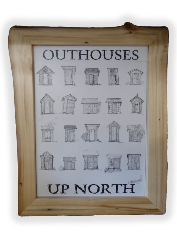 Aspen Picture Frame - Out houses up north