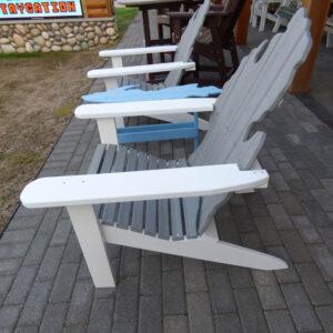 Michigan Adirondack Stationary Chair with Upper Peninsula Table