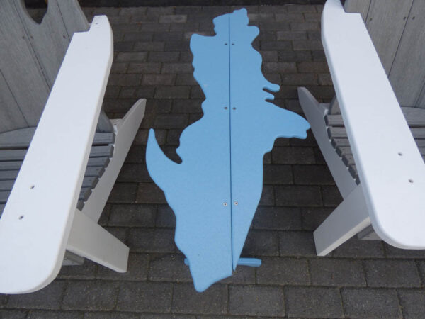 Upper Michigan Table - blue with chairs