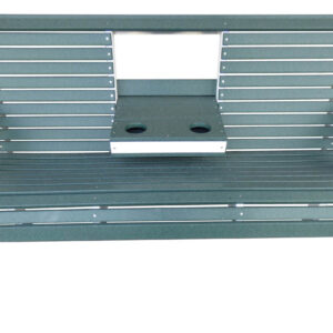 Outdoor Poly Bench with cupholder