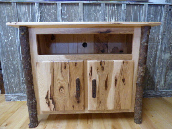 Hickory TV Stand in showroom