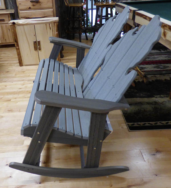 Double Gliding Michigan Chair - Side View