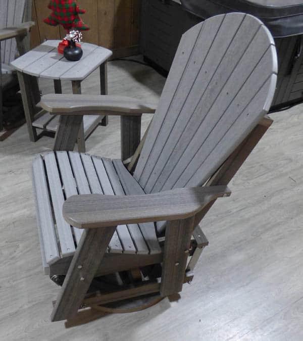 Swivel Glider Chair Side View